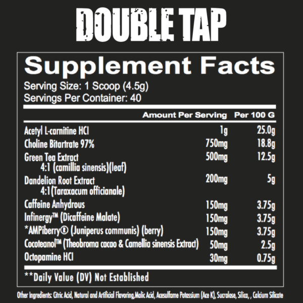 Redcon1 Double Tap - Label