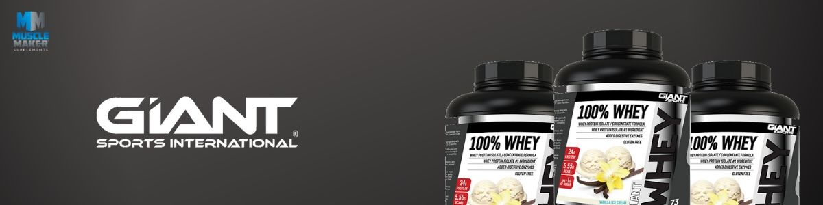 Giant Sports 100% Whey Product Banner