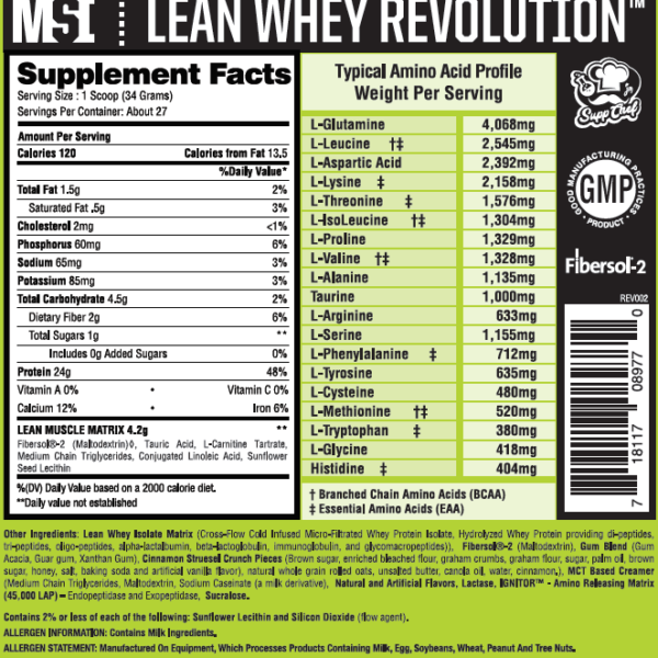 Musclesport Lean Whey Revolution - Nutrition