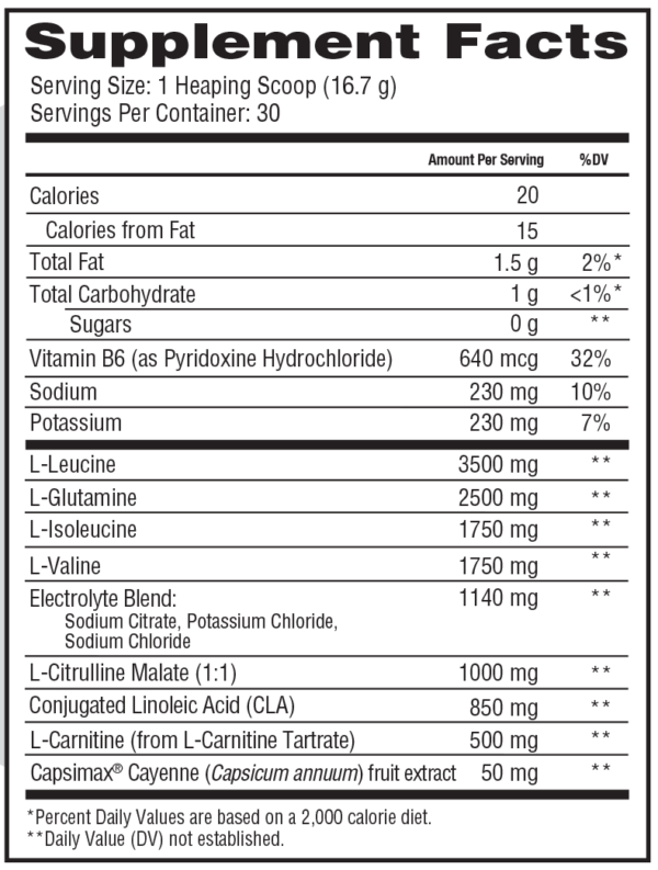 Scivation Xtend Ripped - Label