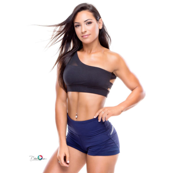 Obsessed Gymwear Alena Crop - Black 2