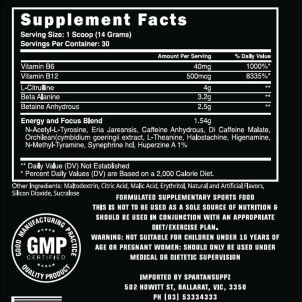 Steel Supplements - Charged AF - Label