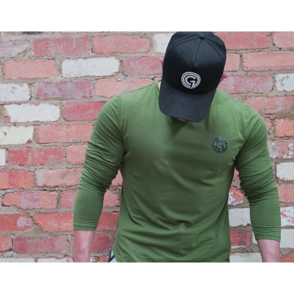 Obsessed Gymwear - Diego Long Sleeve - Khaki 2