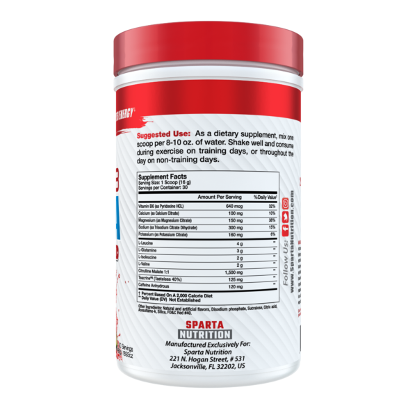 Sparta Nutrition Hydra8 BCAA - Label