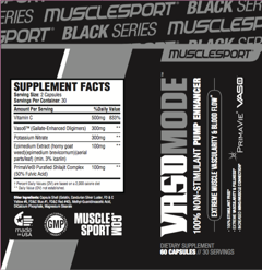 Musclesport VASOMODE - Label