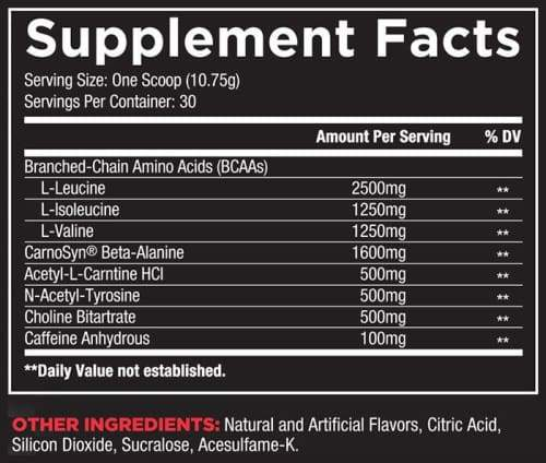 Core Nutritionals Core ABCD - Label