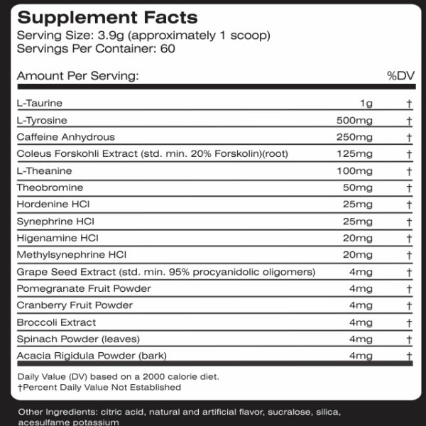 MTS Nutrition Drop Factor - Label