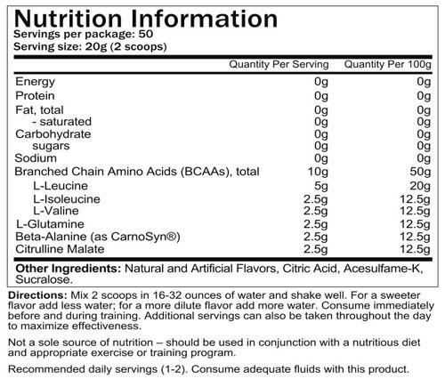 Core Nutritionals Core ABC - Label