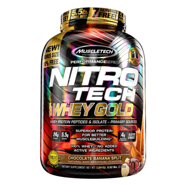 Muscletech Nitro-Tech - 100% Whey Gold - Choc Banana (1)