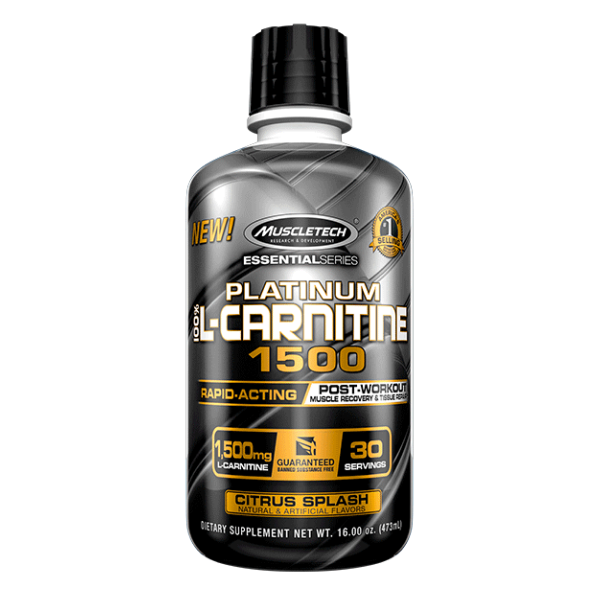Muscletech Platinum 100% L-Carnitine 1500 - Citrus Splash