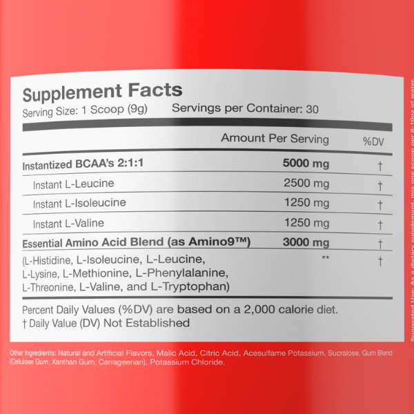Sparta Nutrition Spartan BCAA - Label
