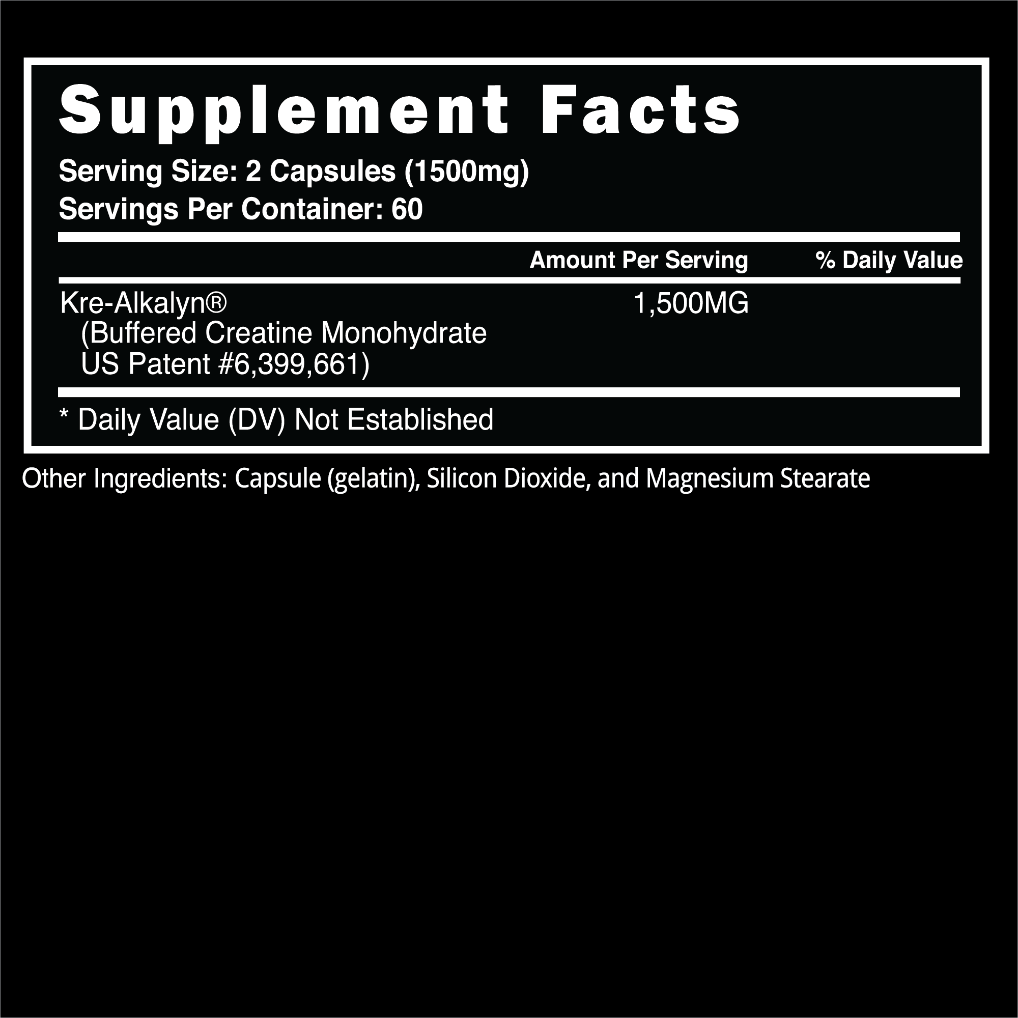 Steel Supplements - ATP Fusion - Label