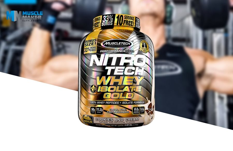 Muscletech Nitro-Tech whey + isolate gold Product
