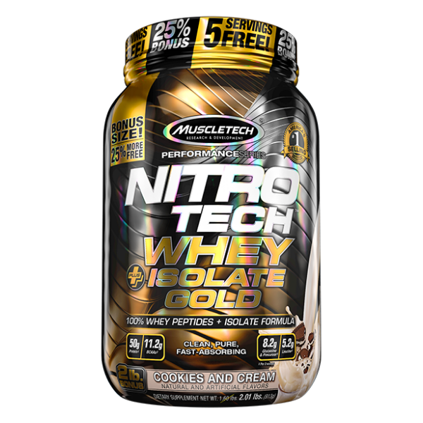 Muscletech Nitrotech Whey isolate gold 2lb - C&C
