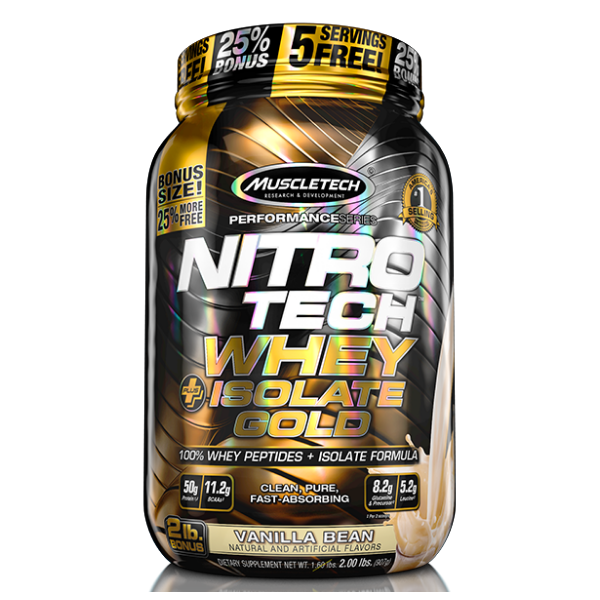 Muscletech Nitrotech Whey isolate gold 2lb - Van