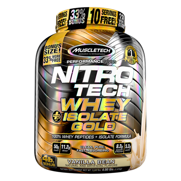Muscletech Nitrotech Whey isolate gold 4lb - Van