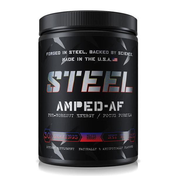 Steel Supplements Amped AF- Berry