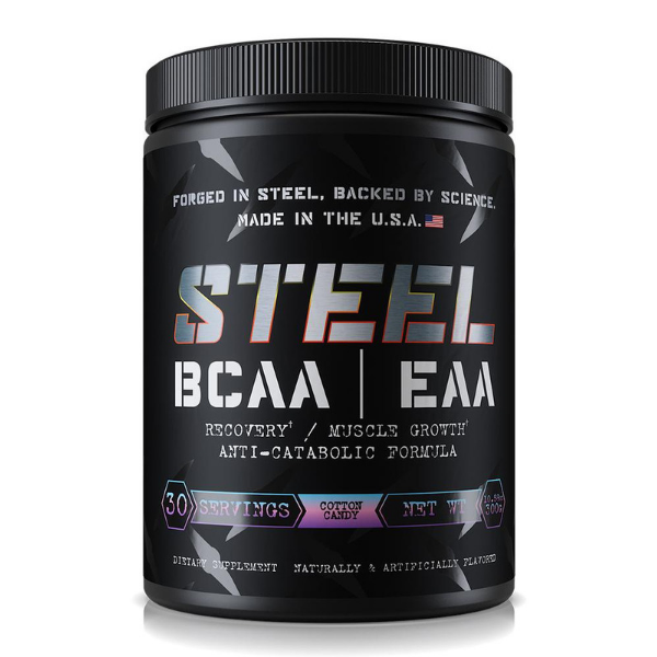 Steel Supplements BCAA EAA - Cotton Candy