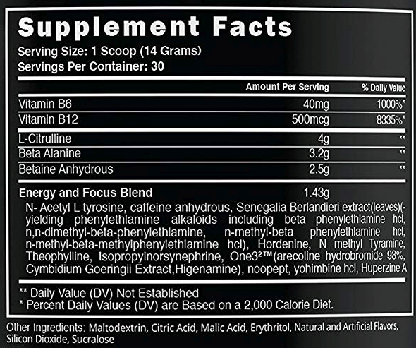 Steel Supplements Amped AF- Label
