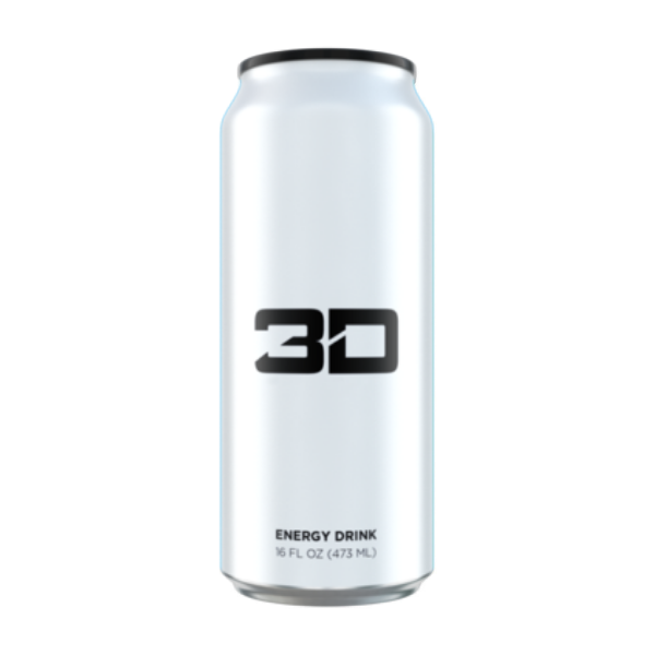 3D Energy Drink - Single White