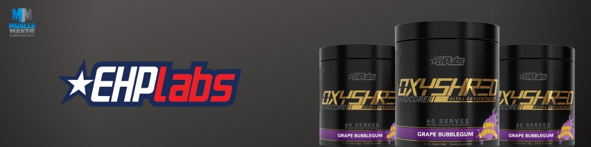 EHPLABS Oxyshred Hardcore Product Banner
