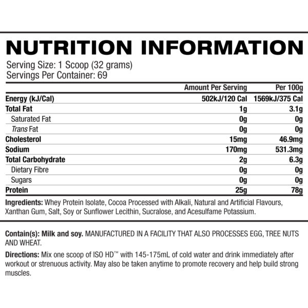 BPI Sports ISO HD 5lb - Label