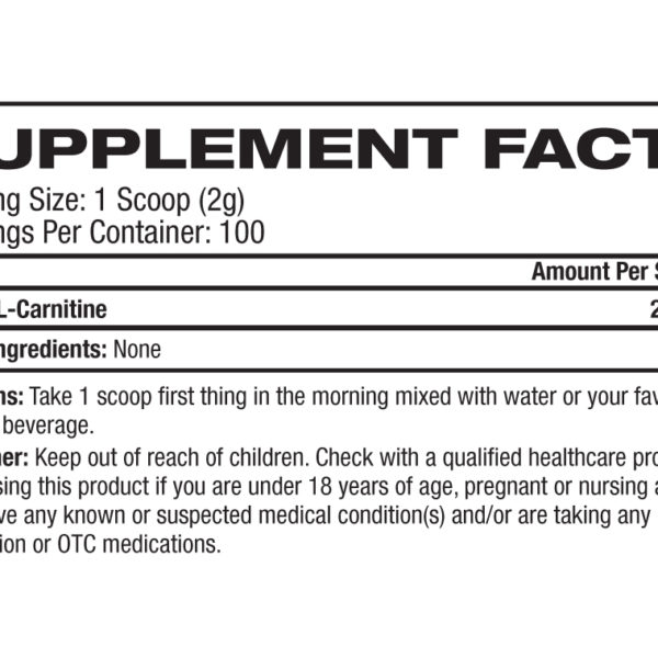 Platinum Labs Essentials Acetyl L-Carnitine Label