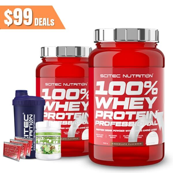 Scitec Nutrition 100% Whey Protein Twin pack (2)