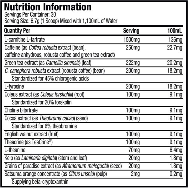 Muscletech Hydroxycut Shred Nutrition