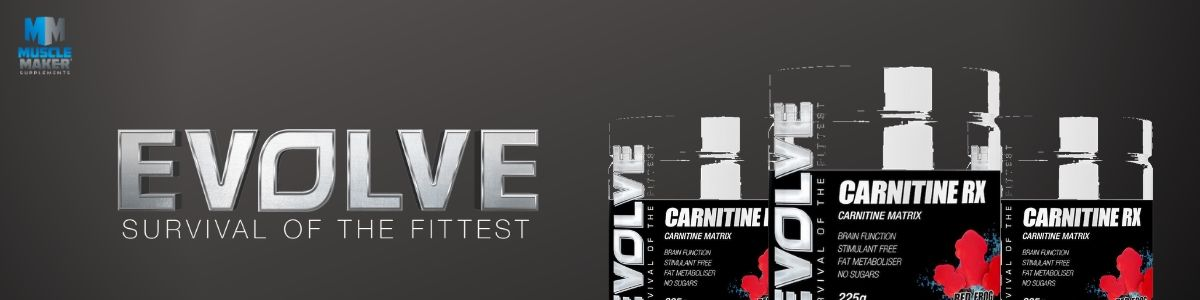 Evolve Nutrition Carnitine RX Product Banner
