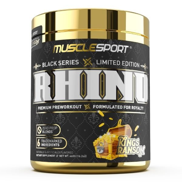 Musclesport Rhino Black. Kings Ransom. Limited Edition