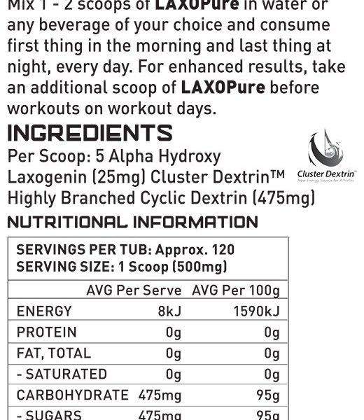 Creation Supplements Laxopure Laxogenin Nutrition