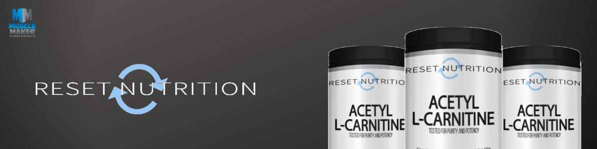 Reset Nutrition Acetyl L-Carnitine Banner