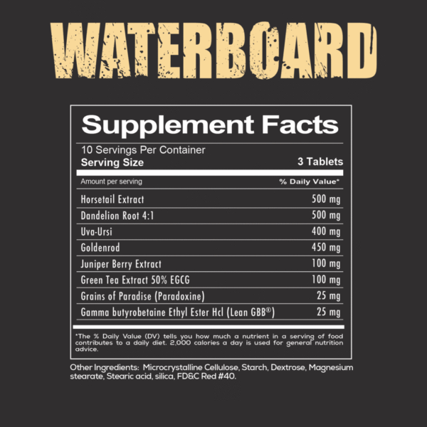 Redcon1 Waterboard Diuretic Nutrition