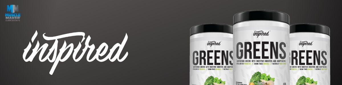Inspired Nutraceuticals Greens superfood powder banner