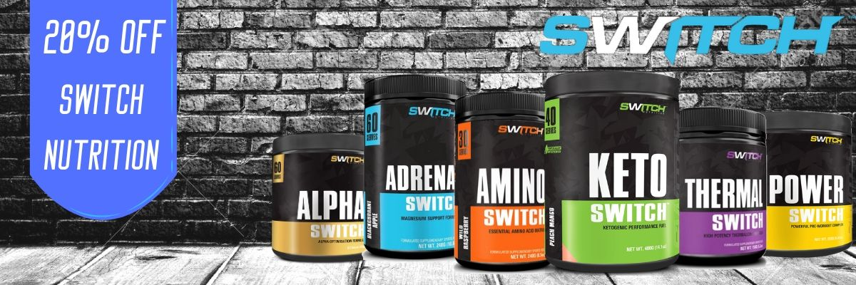 20% Off Switch Nutrition Sale banner