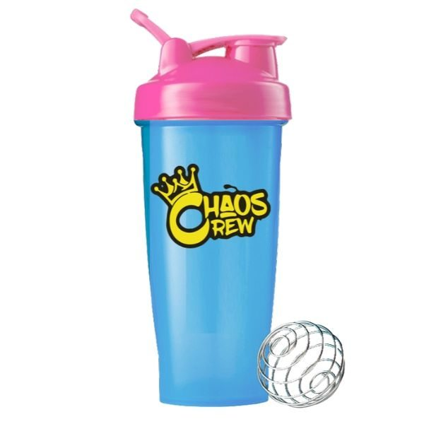 Chaos Crew 600ml Shaker - Blue _ Pink