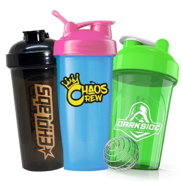 Shaker Bottle Assorted 3 Pack