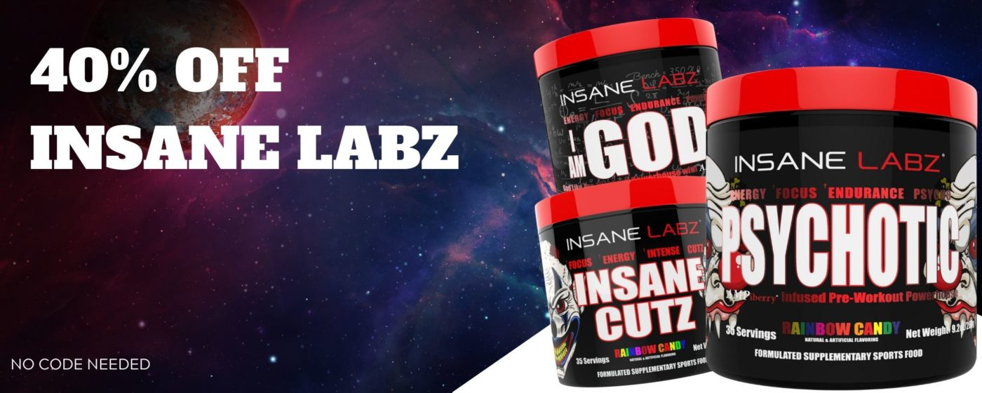 40% Off Insane Labz Banner