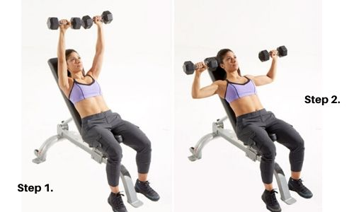 Incline Dumbbell Press | Exercise Database | Muscle Maker Supplements
