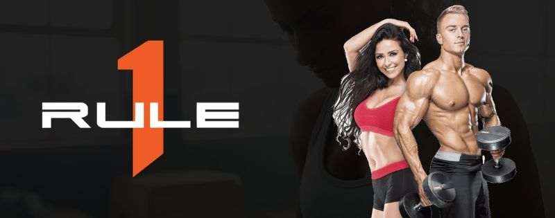 Rule 1 Proteins Supplements Logo Banner