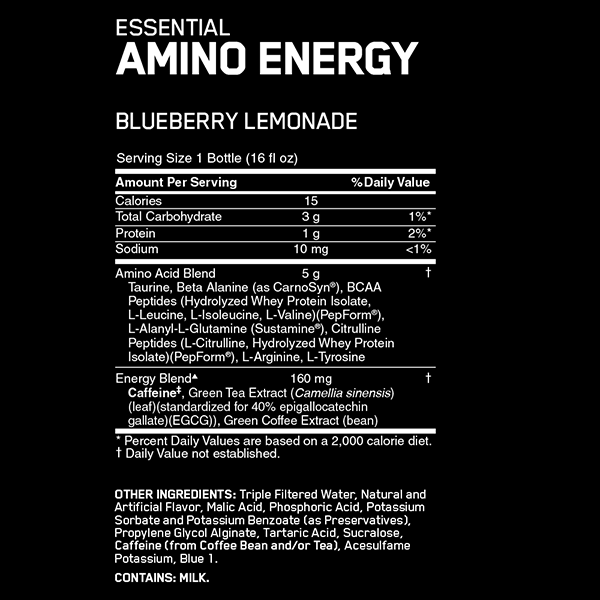 Optimum Nutrition Amino Energy RTD Nutrition