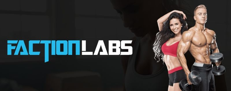 Faction Labs Supplements Logo Banner