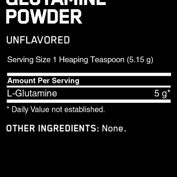 Optimum Nutrition Glutamine Powder Nutrition