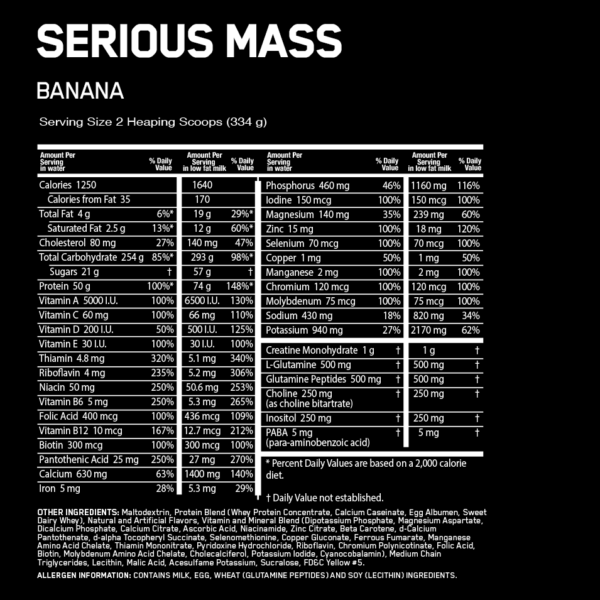 Optimum Nutrition Serious Mass Nutrition