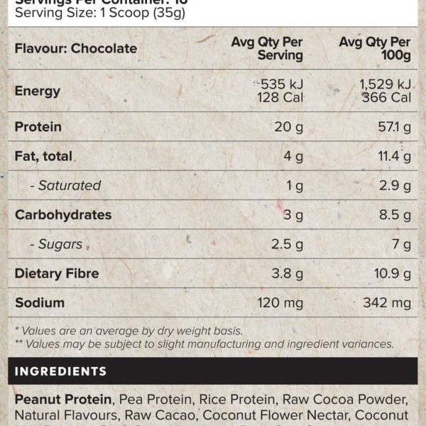 Muscle Nation All Natural Plant Protein Nutrition