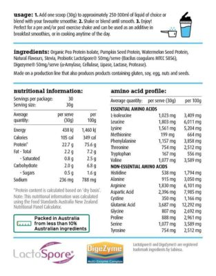 White Wolf Nutrition Natural + Lean Vegan Protein Nutrition