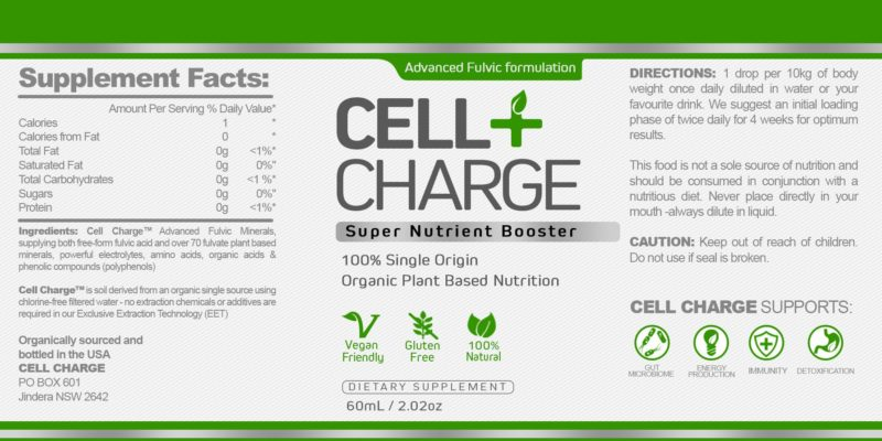 Cell Charge Fulvic Acid Supplement Nutrition