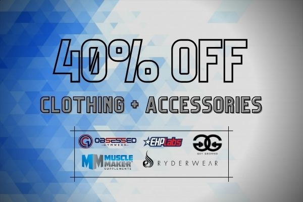 40% off clothing + accessories