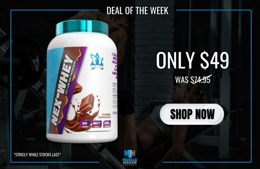 DEAL OF THE WEEK - Nex-Whey only $49 mobile banner
